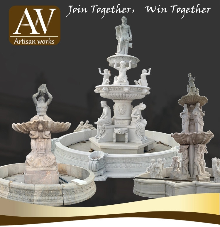 Marble stone statue  outdoor large  decorative water fountains