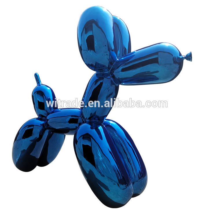 Large Outdoor Stainless Steel Koons Balloon Dog Sculpture