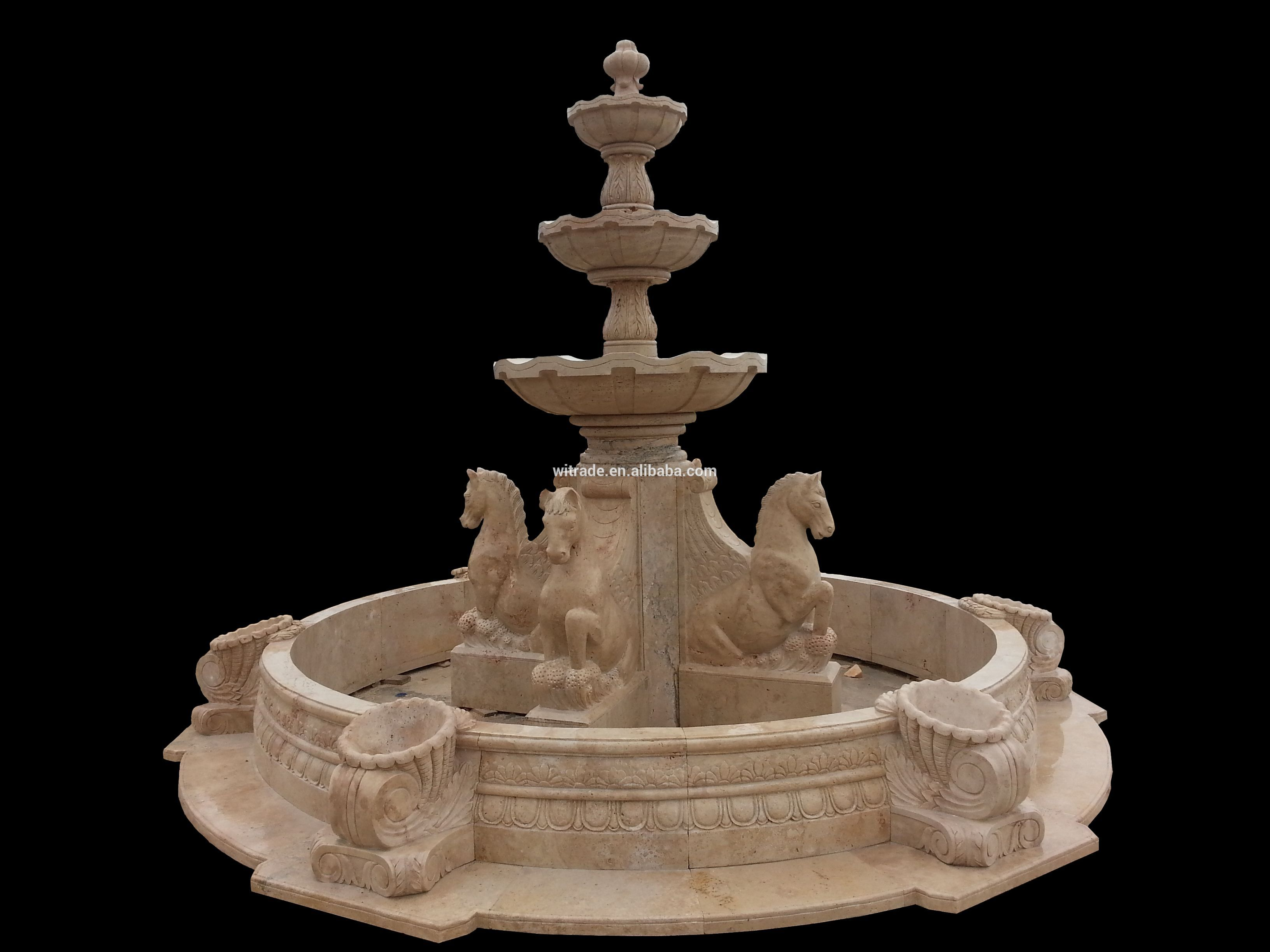 Large Outdoor Stone Granite Decorative Home Garden Marble Pool 3 Tier Water Fountain