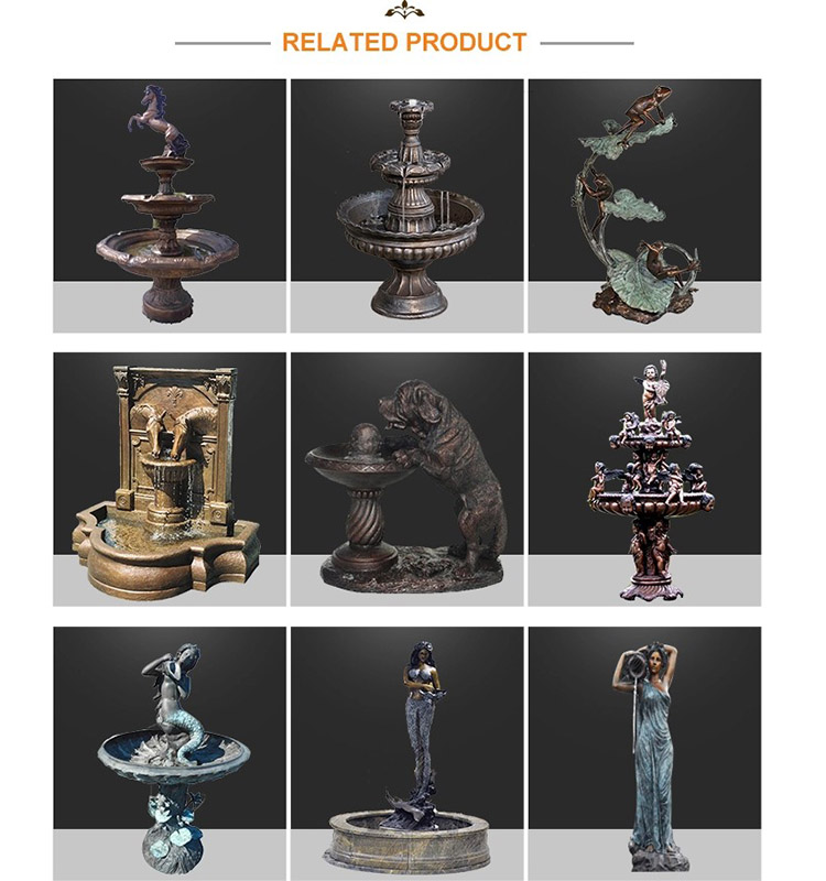 Factory price bronze sculpture  indoor and outdoor decoration  bronze water fountain sculpture