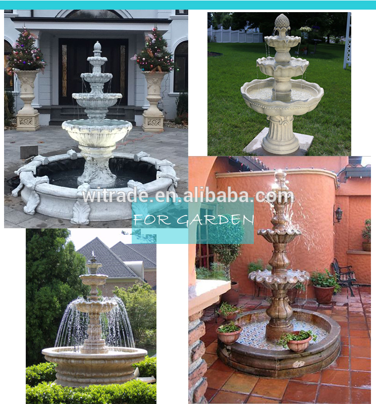 Large Garden Decoration High Quality Hand Carved White Marble Ball Fountain